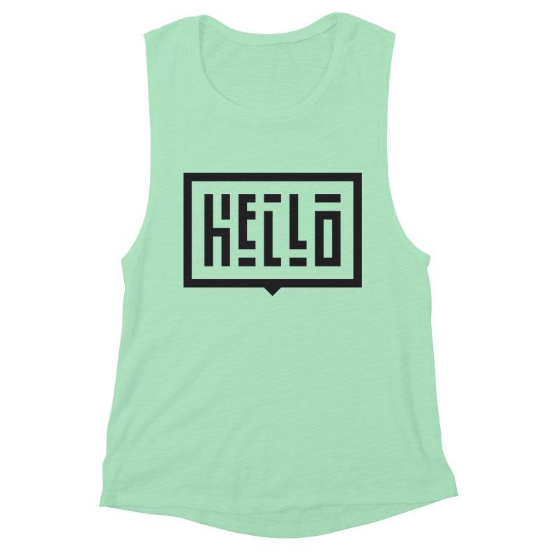 Hello Women's Muscle Tank by LVS360 Artist Shop