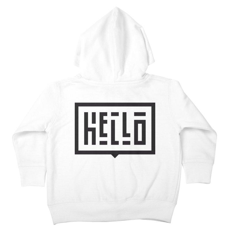 Hello Kids Toddler Zip-Up Hoody by LVS360 Artist Shop