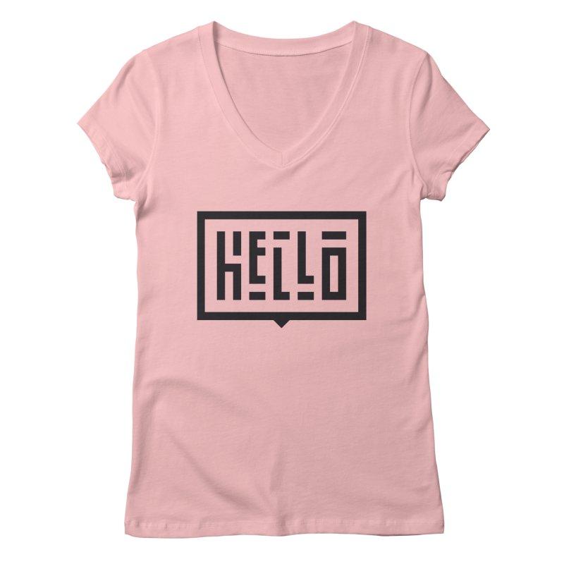 Hello Women's Regular V-Neck by LVS360 Artist Shop