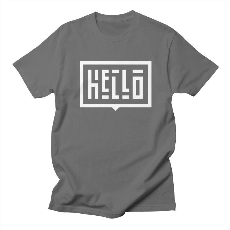 Hello WHT Men's T-Shirt by LVS360 Artist Shop