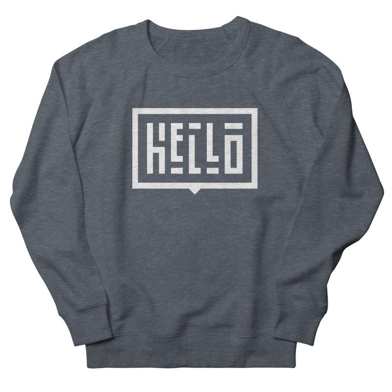 Hello WHT Men's French Terry Sweatshirt by LVS360 Artist Shop