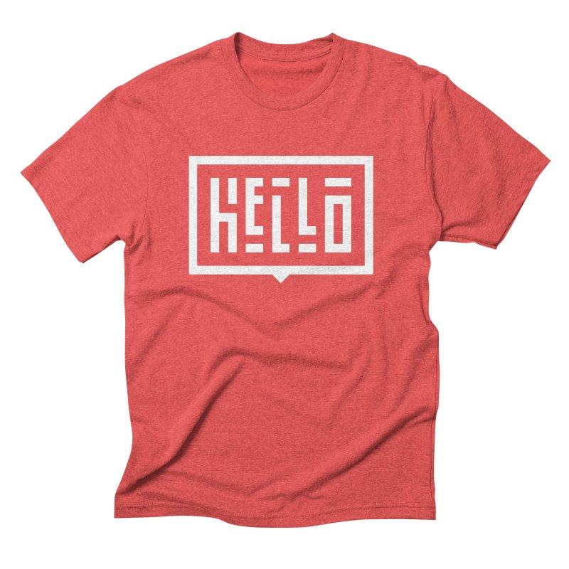 Hello WHT Men's Triblend T-Shirt by LVS360 Artist Shop