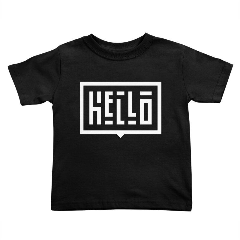 Hello WHT Kids Toddler T-Shirt by LVS360 Artist Shop