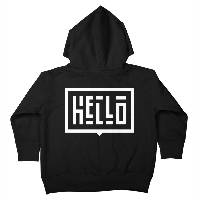 Hello WHT Kids Toddler Zip-Up Hoody by LVS360 Artist Shop