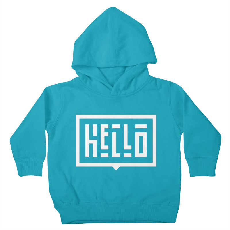 Hello WHT Kids Toddler Pullover Hoody by LVS360 Artist Shop