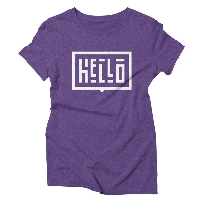 Hello WHT Women's Triblend T-Shirt by LVS360 Artist Shop
