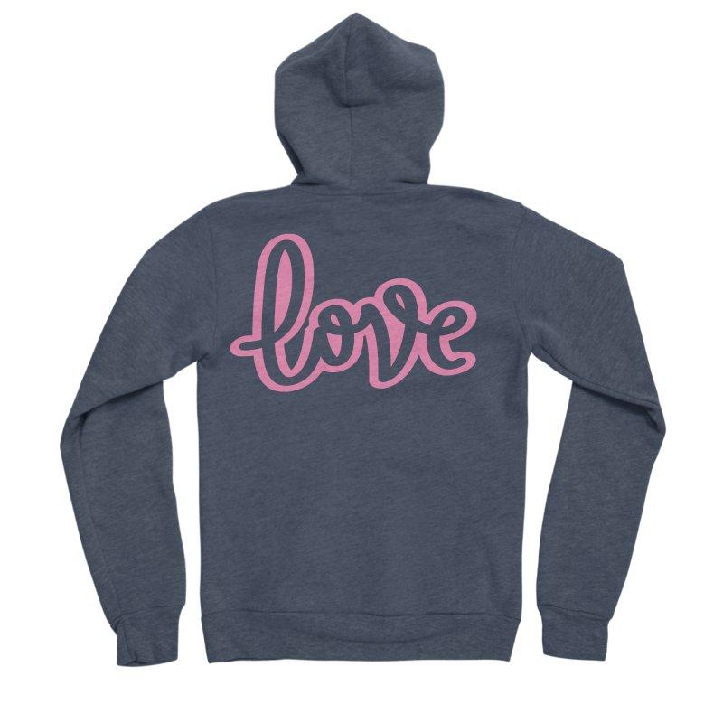 Love in Pink Men's Sponge Fleece Zip-Up Hoody by LVS360 Artist Shop