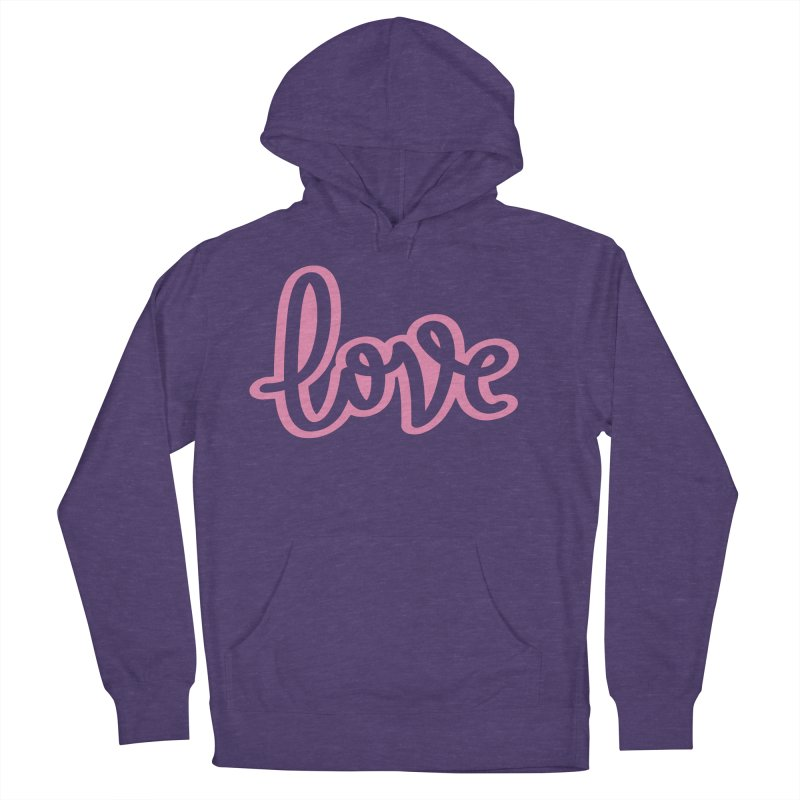 Love in Pink Women's French Terry Pullover Hoody by LVS360 Artist Shop