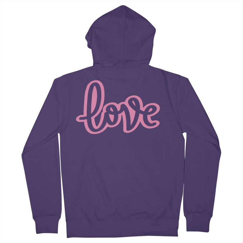 Love in Pink Women's French Terry Zip-Up Hoody by LVS360 Artist Shop