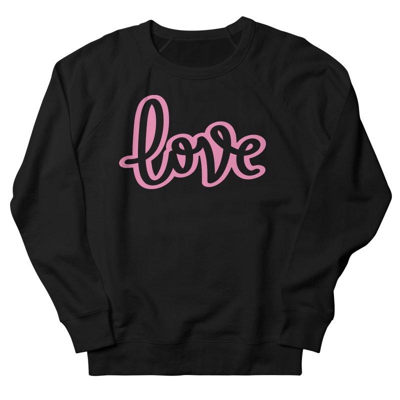 Love in Pink Men's French Terry Sweatshirt by LVS360 Artist Shop