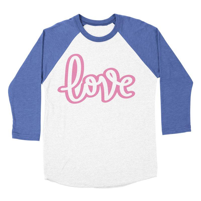 Love in Pink Women's Baseball Triblend Longsleeve T-Shirt by LVS360 Artist Shop