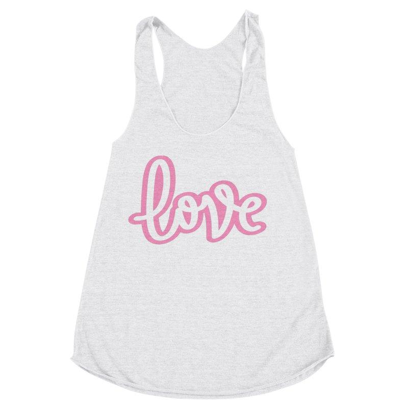 Love in Pink Women's Racerback Triblend Tank by LVS360 Artist Shop