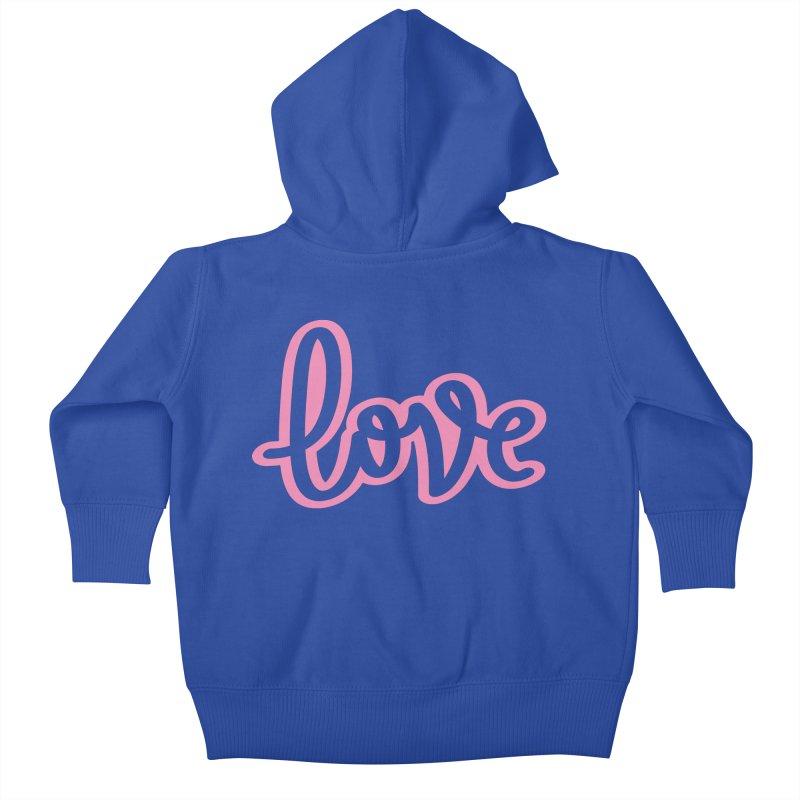 Love in Pink Kids Baby Zip-Up Hoody by LVS360 Artist Shop