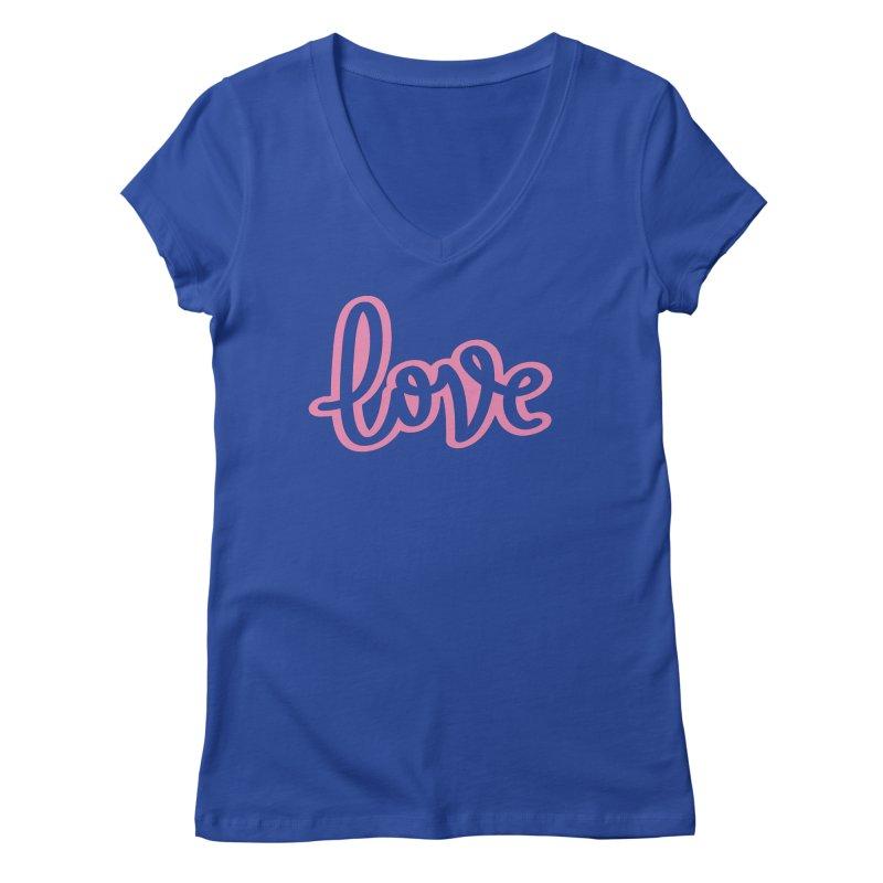 Love in Pink Women's Regular V-Neck by LVS360 Artist Shop