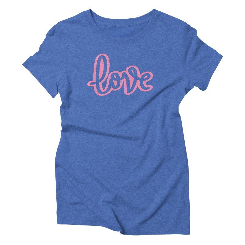 Love in Pink Women's Triblend T-Shirt by LVS360 Artist Shop