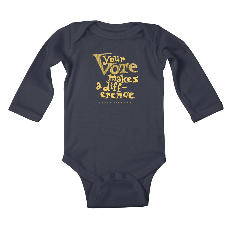 League of Women Voters of Mount Baldy - Gold Kids Baby Longsleeve Bodysuit by lwvmtbaldy's Artist Shop