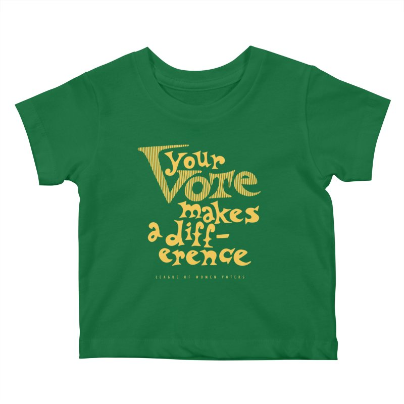 League of Women Voters of Mount Baldy - Gold Kids Baby T-Shirt by lwvmtbaldy's Artist Shop