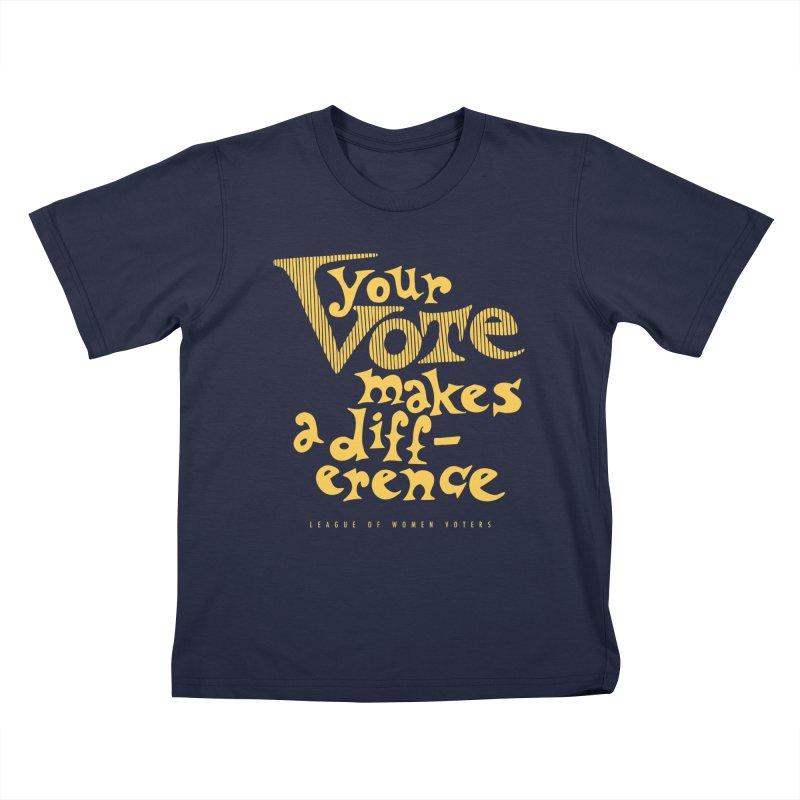 League of Women Voters of Mount Baldy - Gold Kids T-Shirt by lwvmtbaldy's Artist Shop