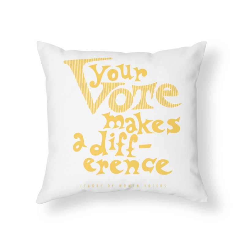 League of Women Voters of Mount Baldy - Gold Home Throw Pillow by lwvmtbaldy's Artist Shop