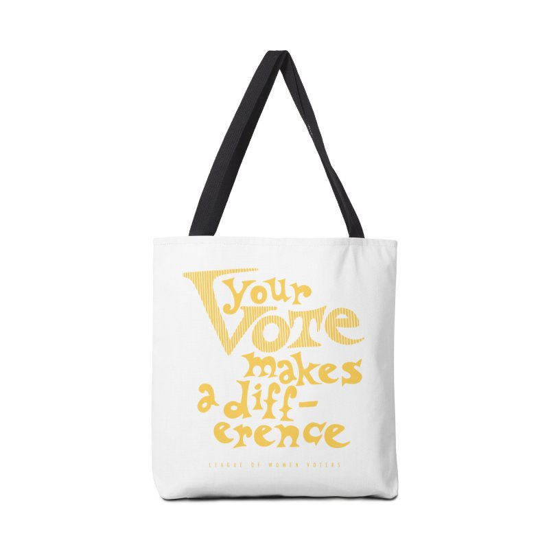 League of Women Voters of Mount Baldy - Gold Accessories Bag by lwvmtbaldy's Artist Shop