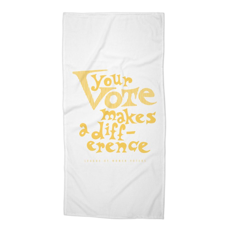 League of Women Voters of Mount Baldy - Gold Accessories Beach Towel by lwvmtbaldy's Artist Shop