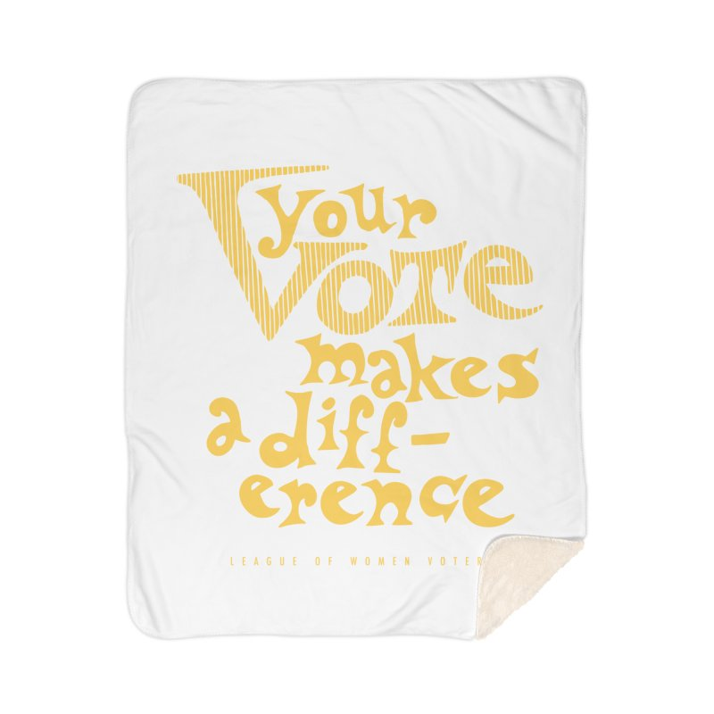League of Women Voters of Mount Baldy - Gold Home Blanket by lwvmtbaldy's Artist Shop