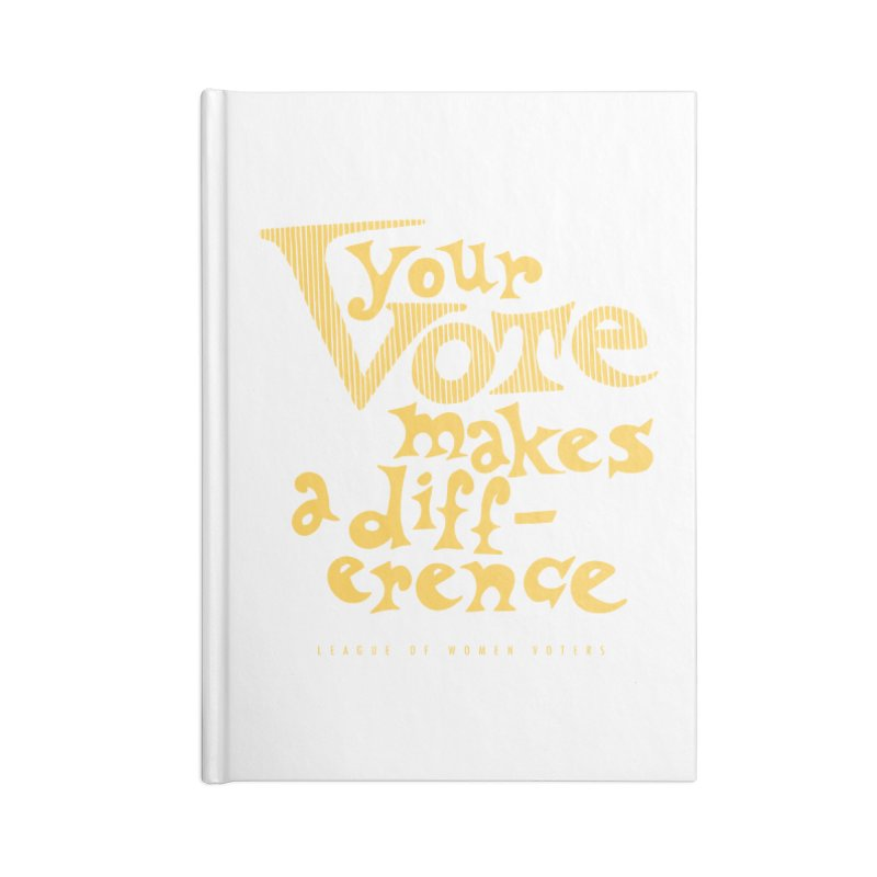 League of Women Voters of Mount Baldy - Gold Accessories Notebook by lwvmtbaldy's Artist Shop