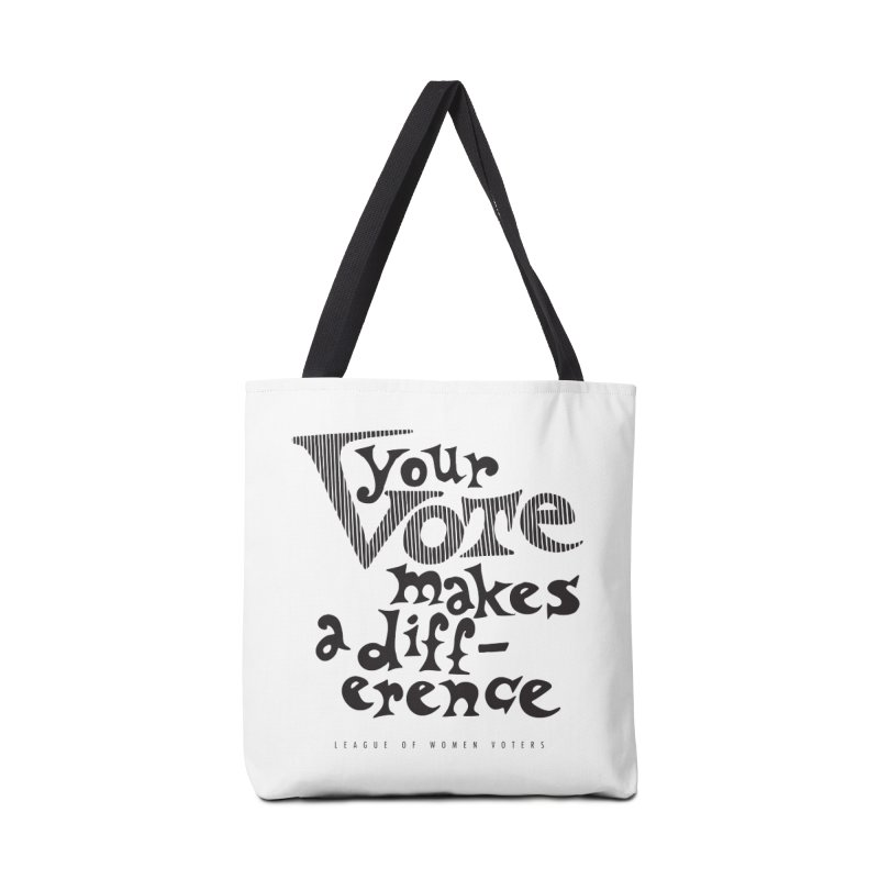 League of Women Voters of Mount Baldy - Black Accessories Bag by lwvmtbaldy's Artist Shop