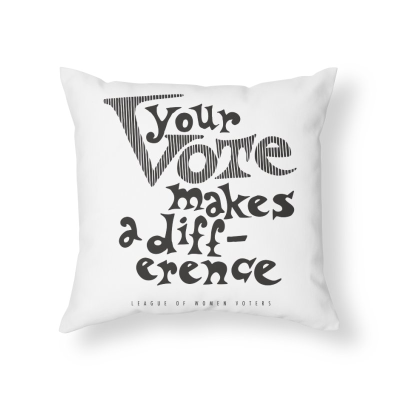 League of Women Voters of Mount Baldy - Black Home Throw Pillow by lwvmtbaldy's Artist Shop