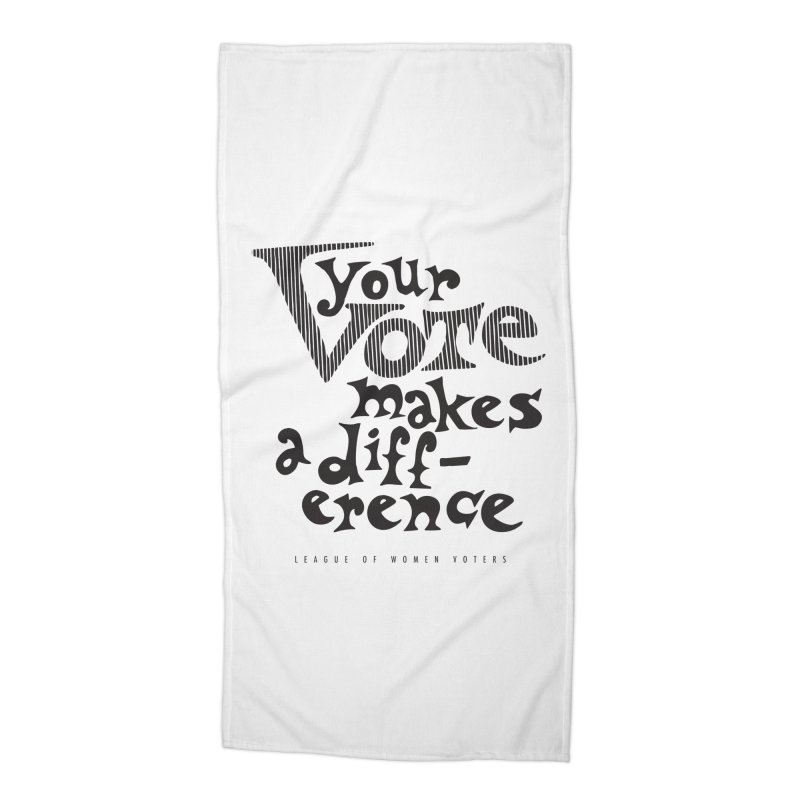 League of Women Voters of Mount Baldy - Black Accessories Beach Towel by lwvmtbaldy's Artist Shop