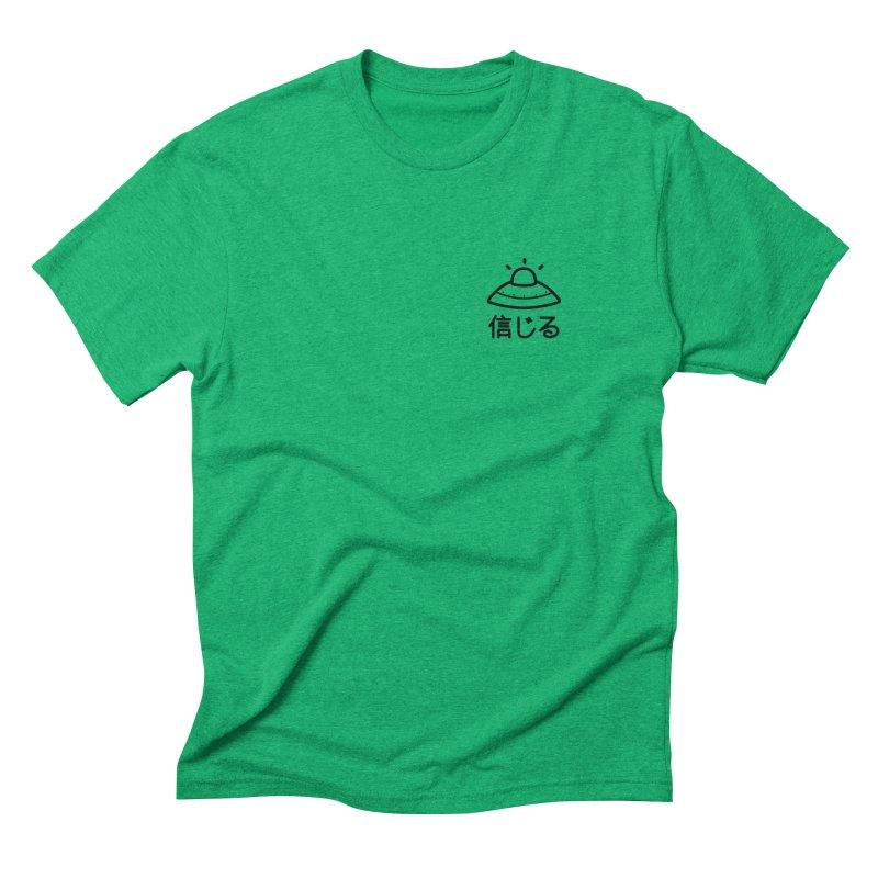 Believe (shinjiru) black Men's Triblend T-Shirt by Luis Romero Shop