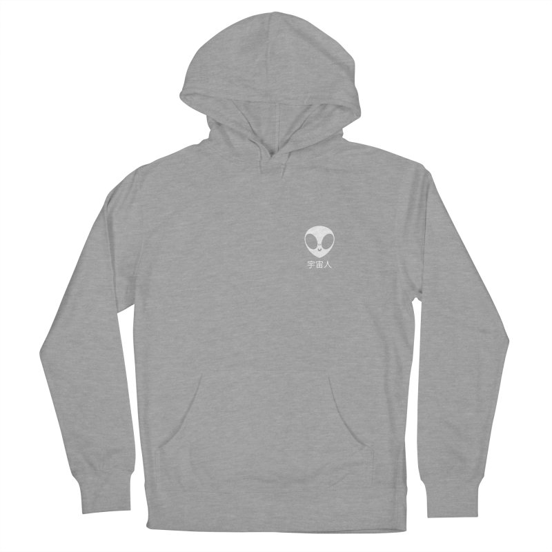 Uchuujin (white) Men's French Terry Pullover Hoody by Luis Romero Shop