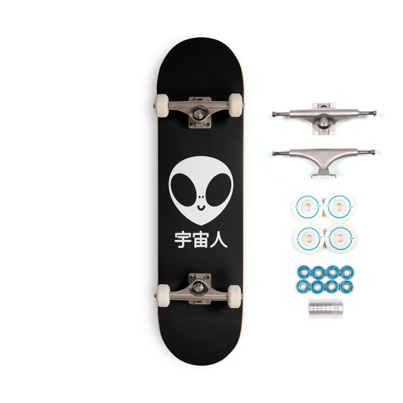 Uchuujin (white) Accessories Complete - Basic Skateboard by Luis Romero Shop
