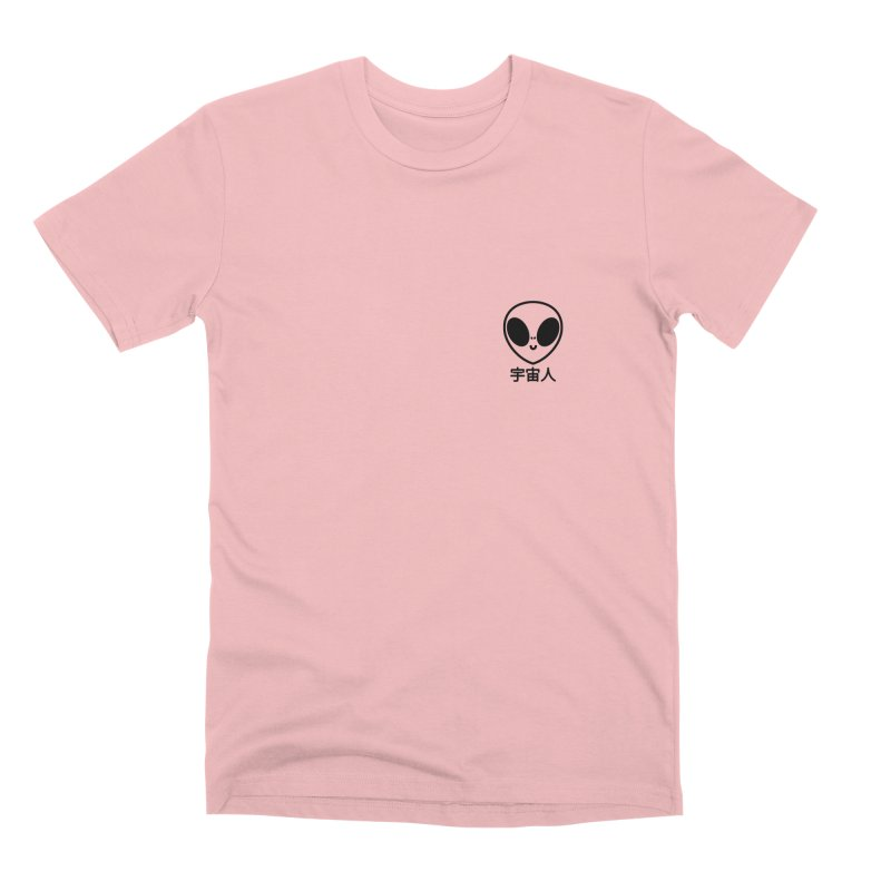 Uchuujin (black) in Men's Premium T-Shirt Pink by Luis Romero Shop