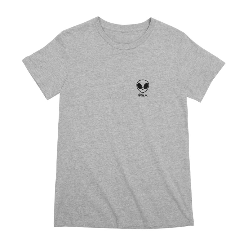 Uchuujin (black) Women's Premium T-Shirt by Luis Romero Shop