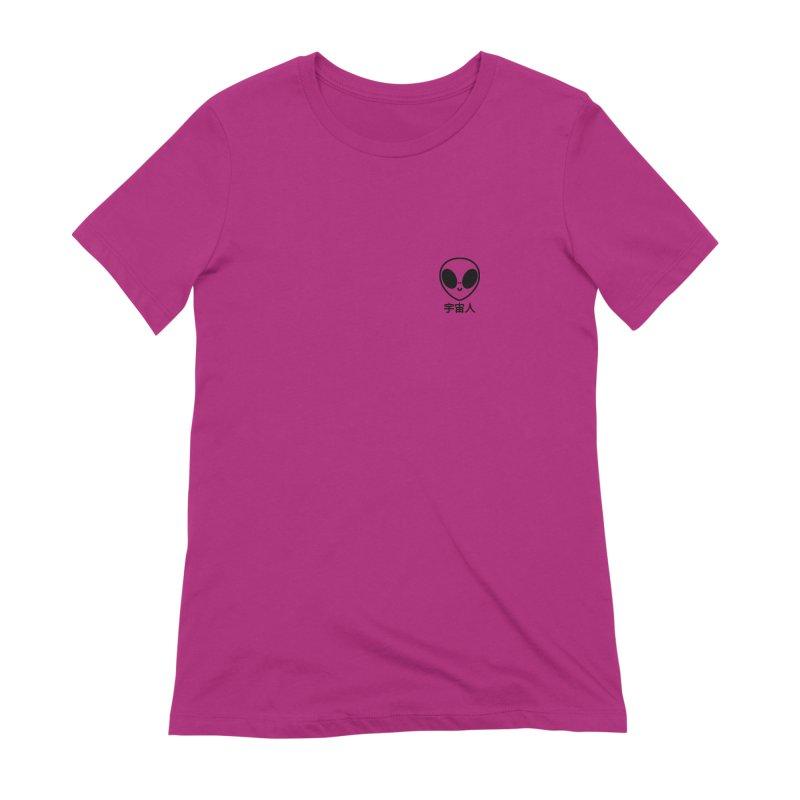 Uchuujin (black) Women's Extra Soft T-Shirt by Luis Romero Shop