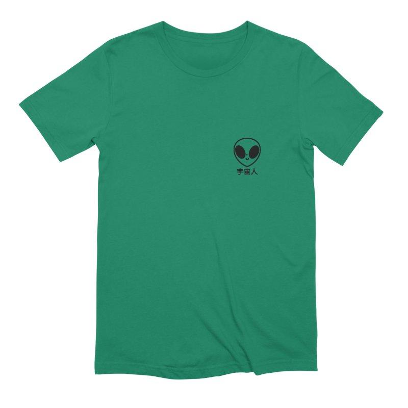 Uchuujin (black) Men's Extra Soft T-Shirt by Luis Romero Shop