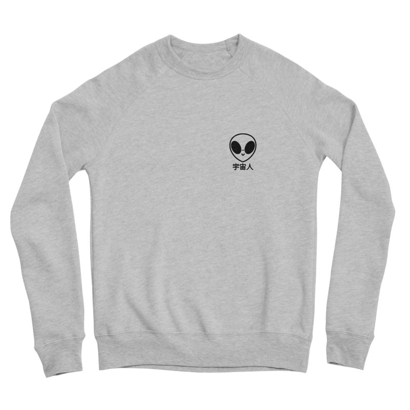 Uchuujin (black) Women's Sponge Fleece Sweatshirt by Luis Romero Shop