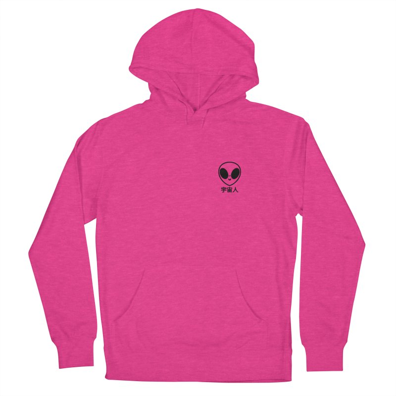 Uchuujin (black) Women's French Terry Pullover Hoody by Luis Romero Shop