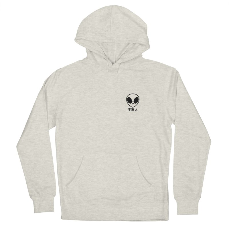 Uchuujin (black) Men's French Terry Pullover Hoody by Luis Romero Shop