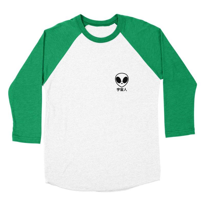 Uchuujin (black) Men's Baseball Triblend Longsleeve T-Shirt by Luis Romero Shop