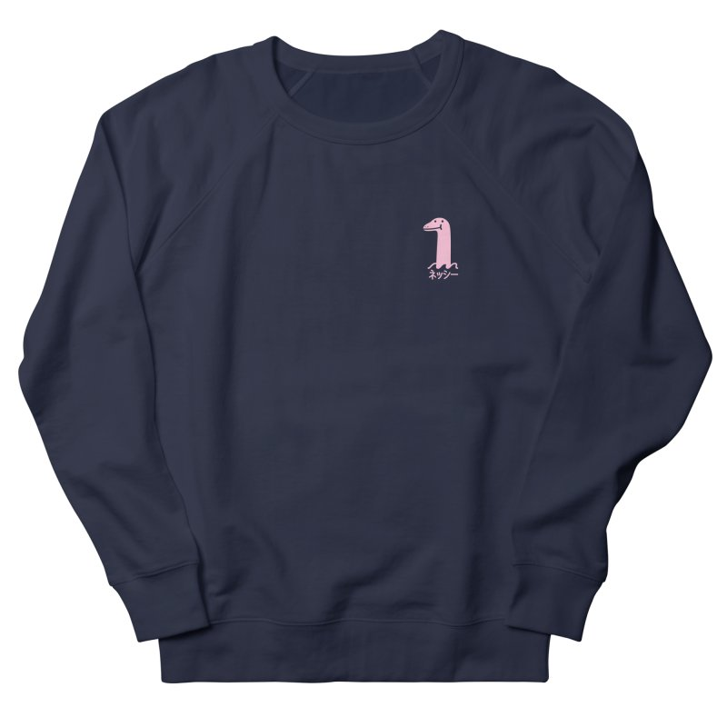 Nessie (Pink) Men's French Terry Sweatshirt by Luis Romero Shop