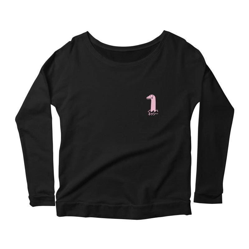 Nessie (Pink) Women's Scoop Neck Longsleeve T-Shirt by Luis Romero Shop