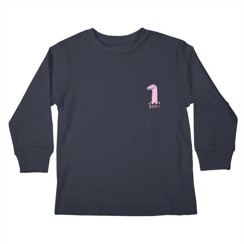 Nessie (Pink) Kids Longsleeve T-Shirt by Luis Romero Shop