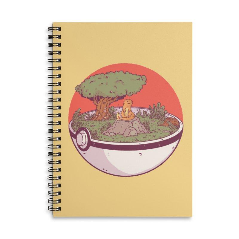 Poke-terrarium Accessories Lined Spiral Notebook by Luis Romero Shop