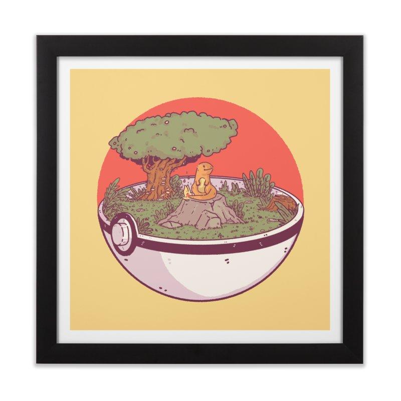 Poke-terrarium Home Framed Fine Art Print by Luis Romero Shop