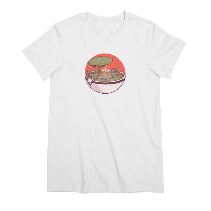 Poke-terrarium Women's Premium T-Shirt by Luis Romero Shop