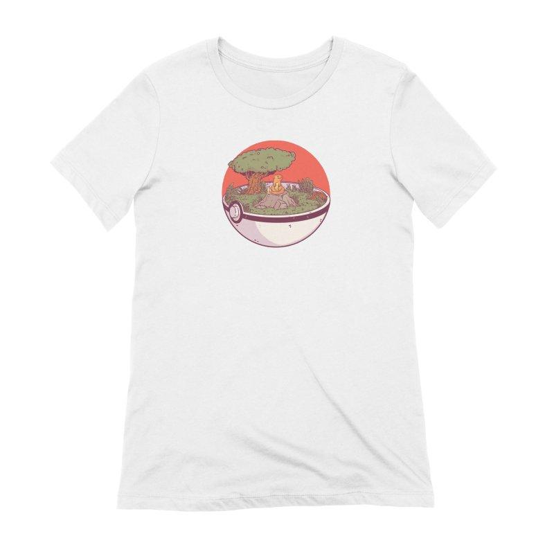 Poke-terrarium Women's Extra Soft T-Shirt by Luis Romero Shop