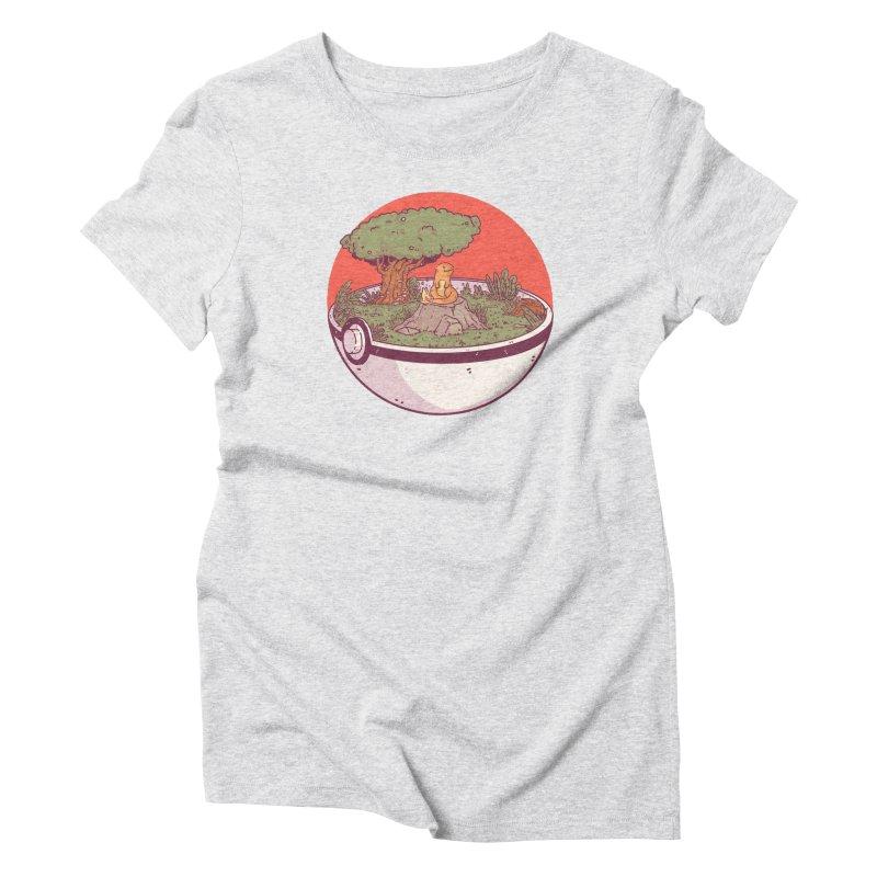 Poke-terrarium Women's Triblend T-Shirt by Luis Romero Shop