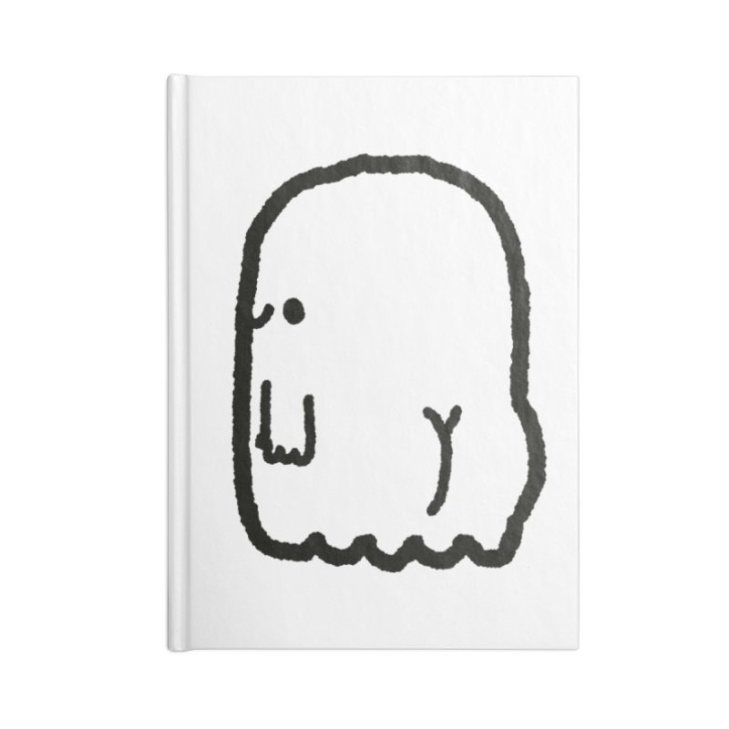 Boo-ty (Black) Accessories Blank Journal Notebook by Luis Romero Shop